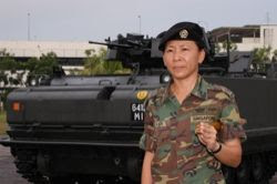 1WO Tan, newly-appointed RSM of 46 SAR. (PHOTO: Lum Ngia)