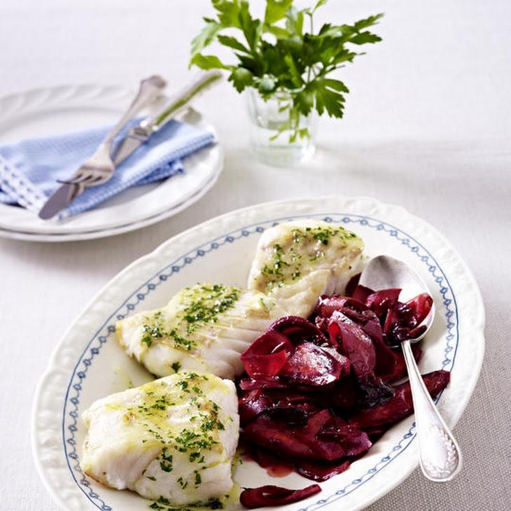 SautéEd Cod with Purple Carrot Salad Recipe