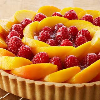 Peach Raspberry Custard Tart