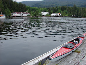 Photo: My kayak on the dock in Namu.