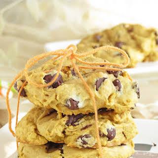 Soft Chocolate Chip Pumpkin Cookies.