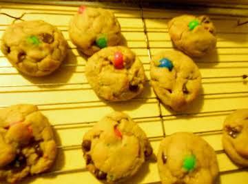 Peanut Butter ChocoletChip cookies /MM's/Sprinkles