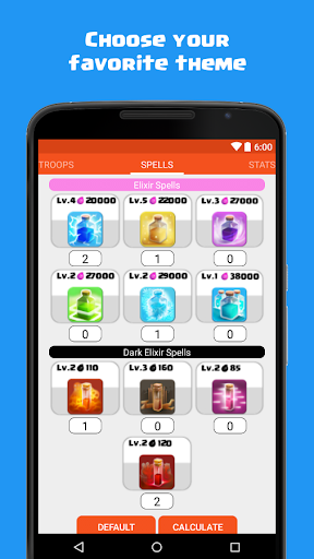 Calculator for Clash of Clans 1.5 screenshots 7
