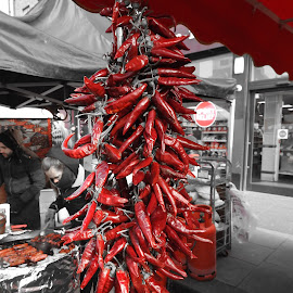 pepperoni by Rok Romih - Food & Drink Fruits & Vegetables ( notting hill, pepperoni, portobello road market )