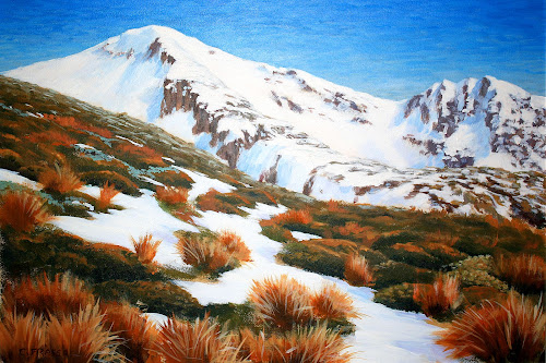 Kahurangi National Park, Mt Arthur, Nelson by Phil Le Cren - Painting All Painting ( mountain, art, mt arthur, landscape, painting )