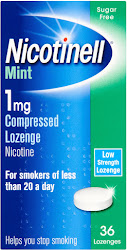 Nicotinell Compressed Lozenge - Mint, 1mg, 36 Lozenges