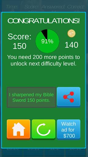 Bible Sword Sharpener Quiz .2 {cheat hack gameplay apk mod resources generator} 5