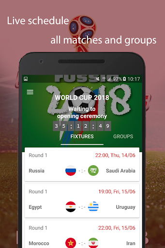 World Cup 2018 Live Scores & Fixtures 2.0.1 screenshots 1