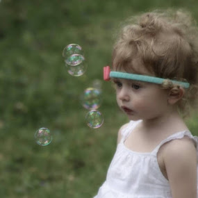 Love bubbles by Peggy Clark - Babies & Children Children Candids ( family, granddaughter, bubbles )