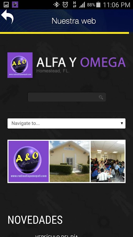 Radio Alfa y Omega Florida- screenshot