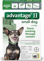 Advantage Ii Fee Control - Small Dog