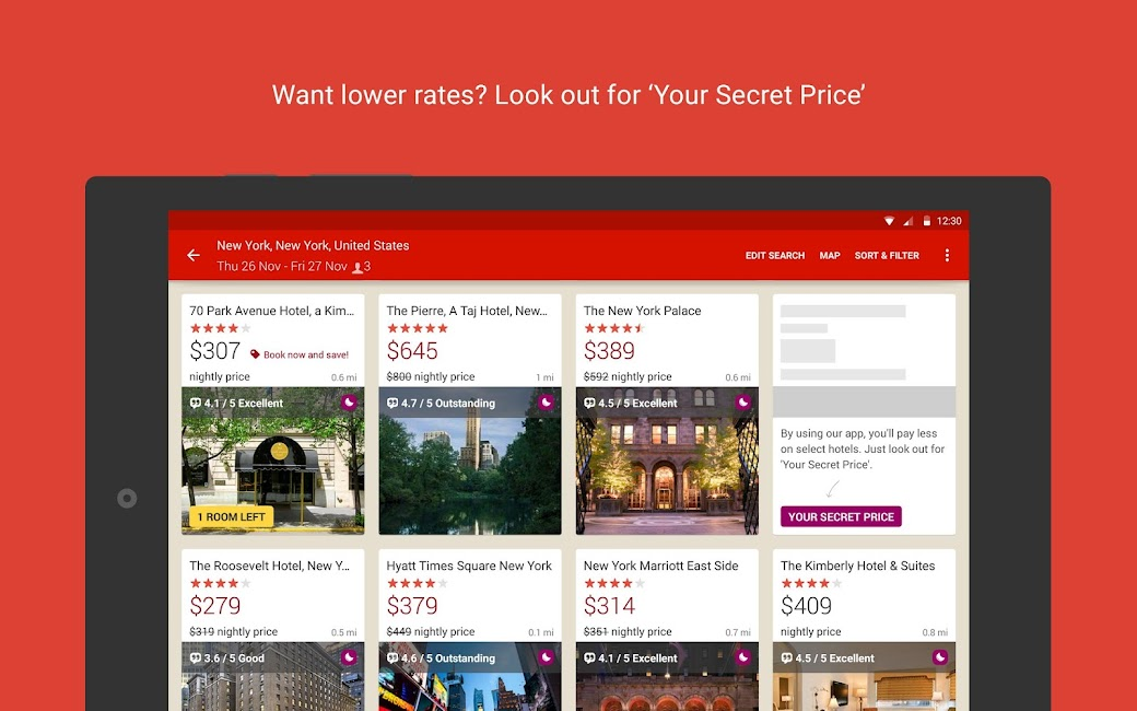 #8. Hotels.com – Hotel Reservation (Android)