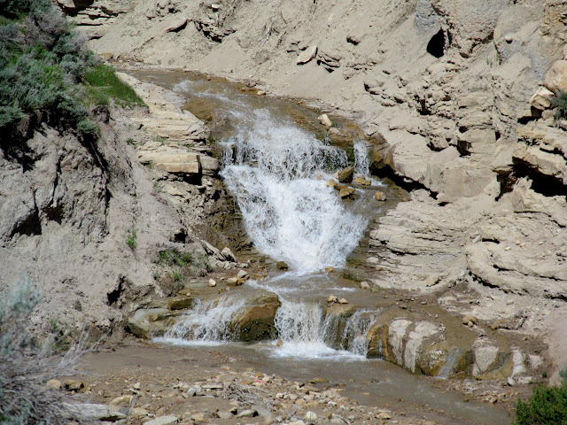 Water flowing in Corner Canyon