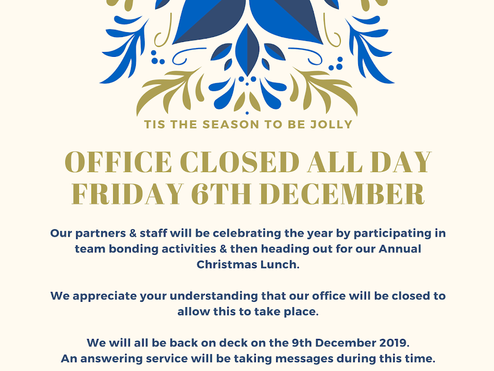 Xmas Party Closure – Facebook Post