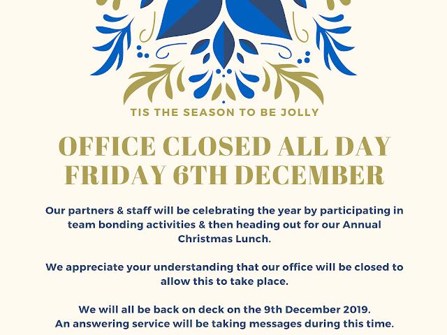 Xmas Party Closure – Facebook Post