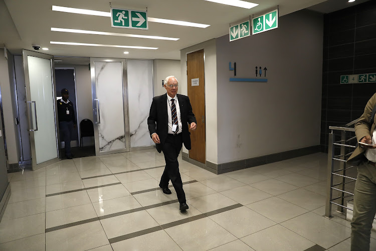 Francis Callard at the commission of inquiry into state capture.