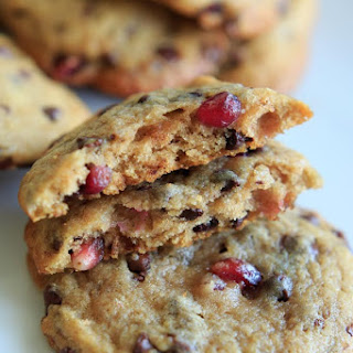 Chocolate Chip Cookies with Pomegranate Seeds