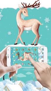 Cute Christmas Deer theme - náhled