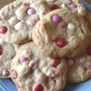 Thick N Chewy M&M Valentine Cookies.