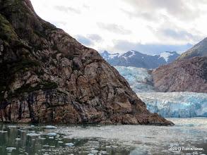 Photo: Our first glimpse of South Sawyer Glacier as the ship spun around.