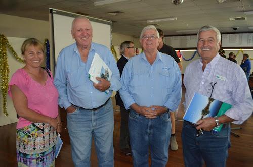 Bernadette Hamblin, Jerry Killen, Jeff Carolan and Narrabri Shire councillor Ron Campey were among those at the meeting.