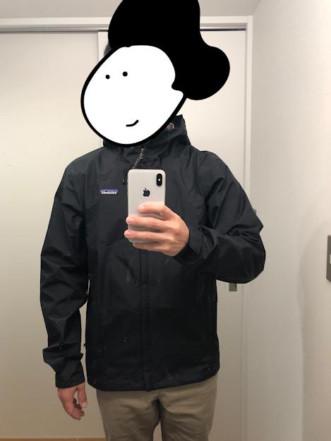 トレントシェル3L・ジャケットの着用状態