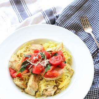 Pesto Spinach Tomato Spaghetti Squash Recipe