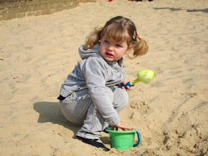 Photo: First visit to a sand pit this year.