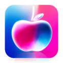 Crystal Apple Colorful Theme icon