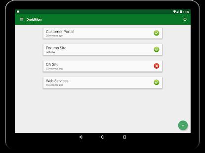 DroidMon Website Monitor screenshot