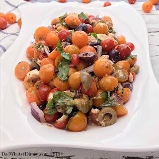 Tomato Olive Salad.