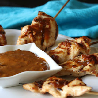 Thai Chicken Satay with a Spicy Peanut Sauce