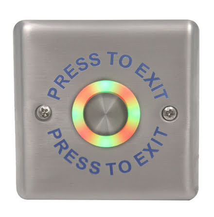 "Atlas Exit ""PRESS TO EXIT"" 87x87x32 mm"