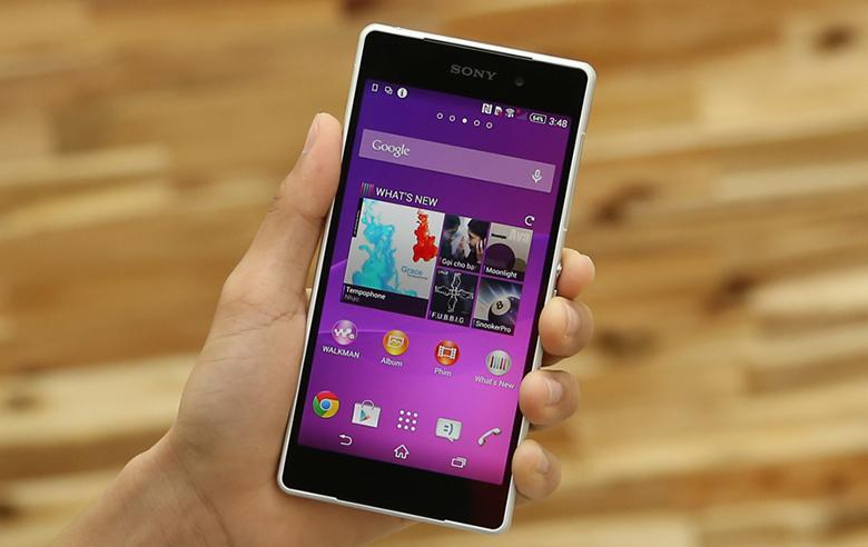 Màn hình Sony Xperia Z2 có phân giải Full HD với 5.2 inch