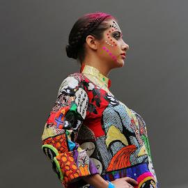 Colours by Arpan Sarkar - People Body Art/Tattoos ( art, arpansarkarclicks, colourful, portrait, colors, attitude )