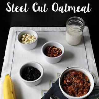 Slowcooker Apple Steel Cut Oatmeal