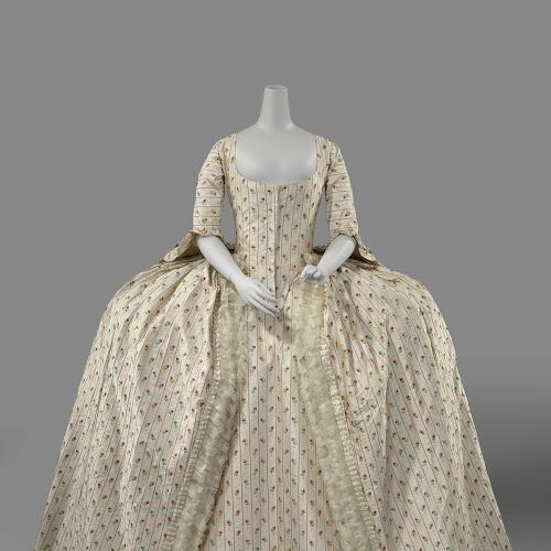 Robe A La Francaise: Sack-Back Gown (robe à La Française), Anonymous, C. 1780