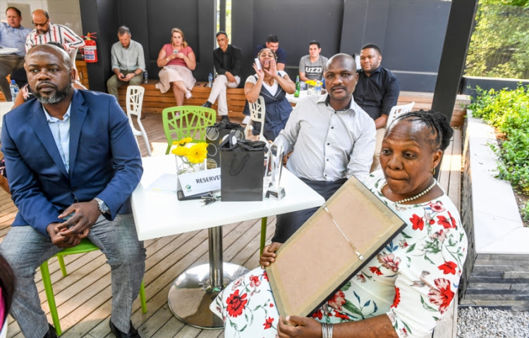 Cricket South Africa staff rewarded for long service in a private office award ceremony presided over by communications manager Koketso Gaofetoge and key note address and award presentation to staff by CEO Thabang Moroe during the CSA long service awards at CSA Head Quarters on September 27, 2018 in Johannesburg, South Africa.