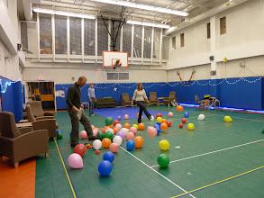 Photo: Balloons to kick around the dance floor.