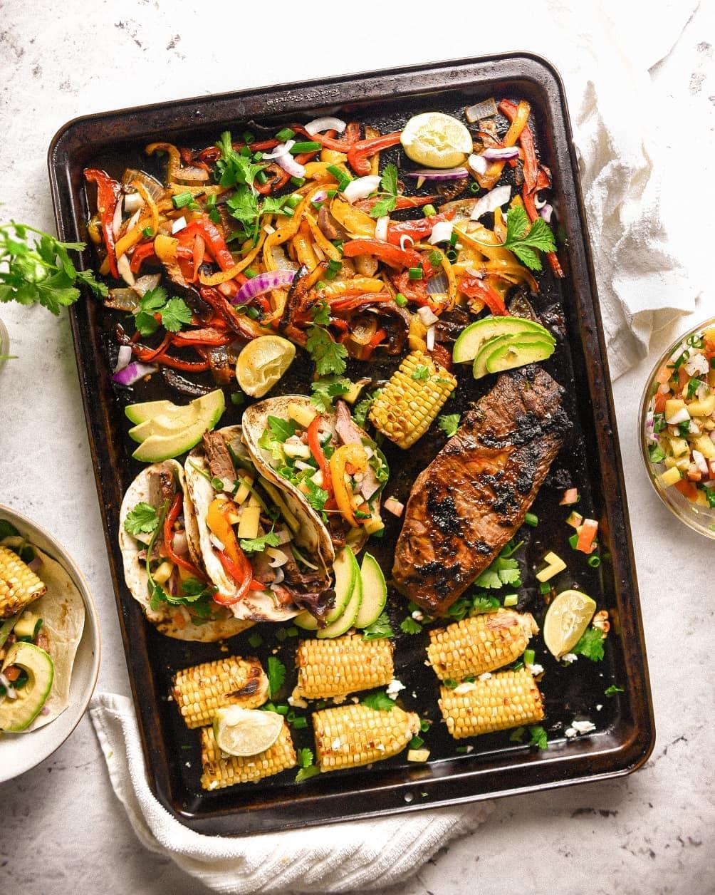 dinner on sheet pan