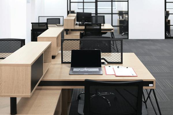 Cơ sở vật chất hiện đại tại văn phòng chia sẻ