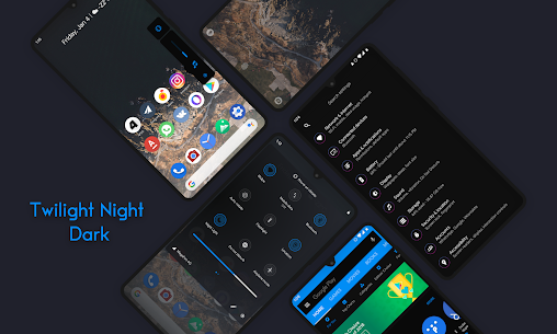Twilight Night Q Dark – Substratum theme v3.0 (Patched) 2