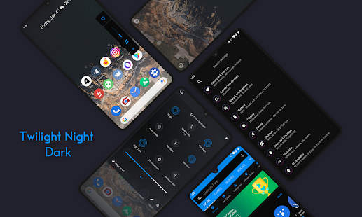 Twilight Night Q Dark ○ Substratum theme Screenshot