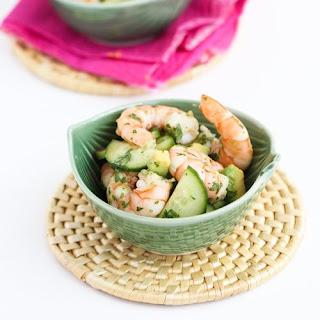 10-Minute Thai Shrimp, Cucumber & Avocado Salad.