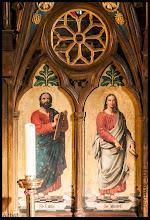 Photo: der Zahn der Zeit am Altarbild des St Lukas & St Johannes in Althof
