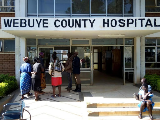 """Two security guards who were beaten and stabbed during a robbery at a petrol station died while undergoing treatment at Webuye county hospital."" /BRIAN OJAMAA"