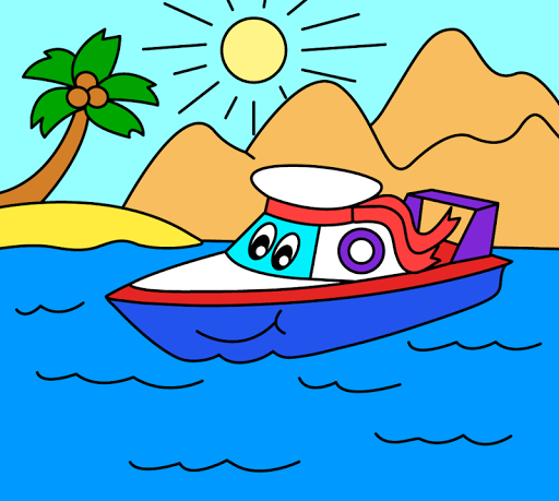 Coloring pages for children : transport  screenshots 10