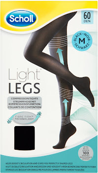 Scholl Light Legs Compression Tights - 60 Den Black, Medium