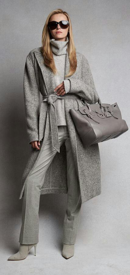 Will Grey Become More Than A Sweater, A Pair Of Pants Or A Coat In A Look?  This Color Is Neutral And Very Easy To Combine, Looks Fantastic With Pop  Colors ...