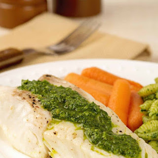 Broiled Halibut with Kale Pesto Recipe